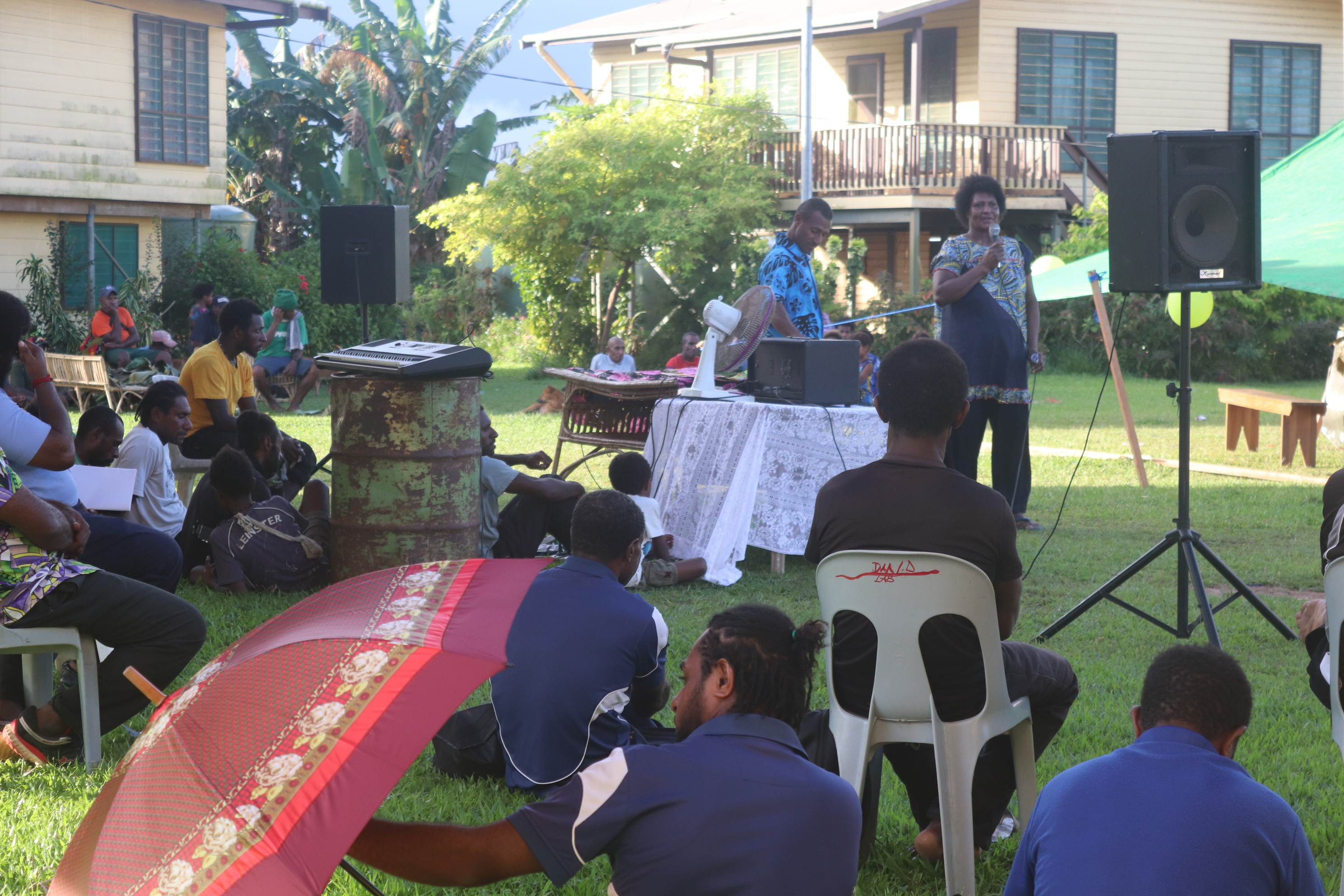 Gathering for 2021 farewell for Mr. Amono to Rumginae