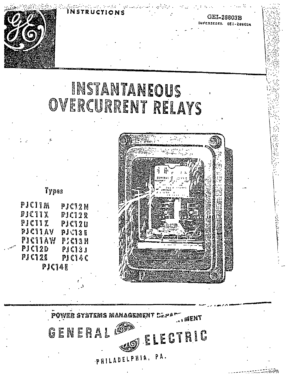 I.L. 41-133P DIRECTIONAL OVERCURRENT GROUND RELAYS TYPES
