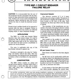 i l 41 776 5a type sbf 1 circuit breaker failure relay manual westinghouse [ 1678 x 2189 Pixel ]