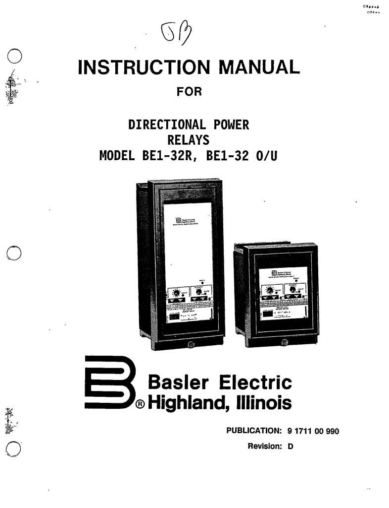 switchgear relay
