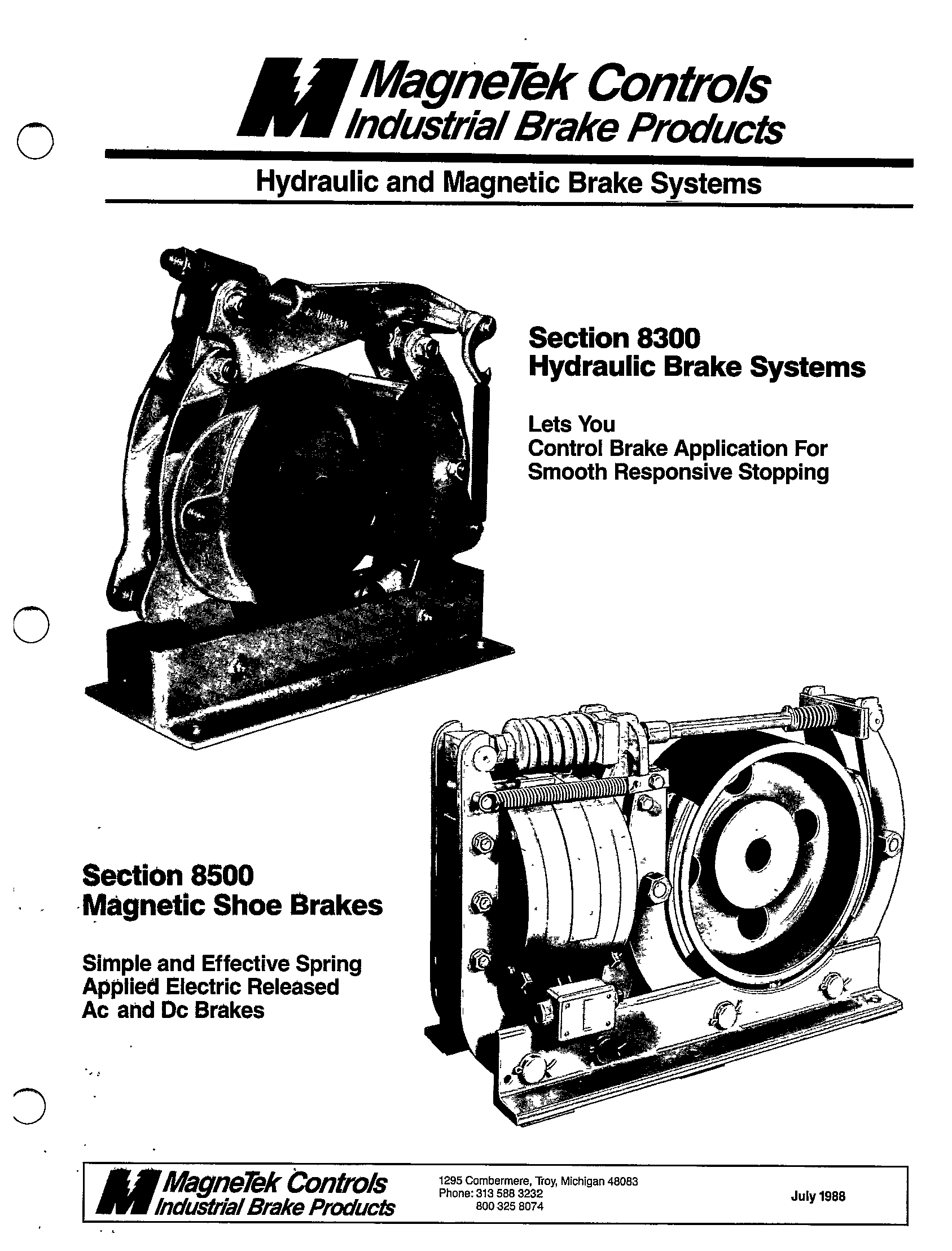 SECTION 8300 HYDRAULIC BRAKE SYSTEMS AND SECTION 8500