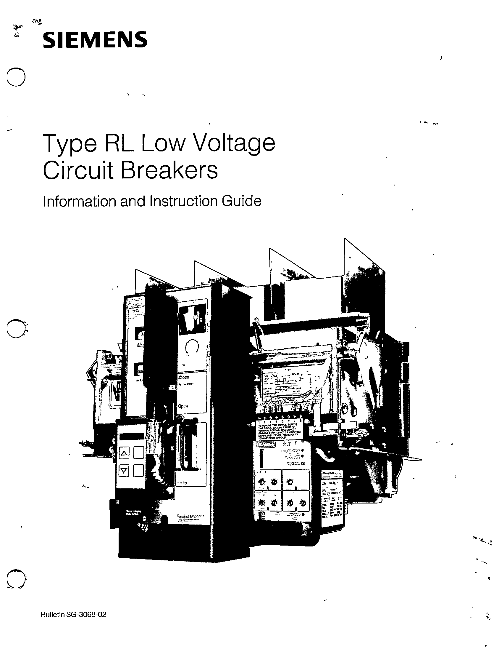 SG-3068-02 TYPE RL LOW VOLTAGE CIRCUIT BREAKERS MANUAL