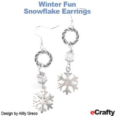 eCrafty.com DIY jewelry project made with our SKU 1162 Christmas Holiday Charms 100pack Mega Mix and our assorted Jewelry Findings
