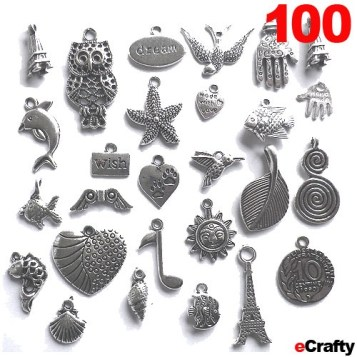 Charms Mega Mix over 100 mixed charms SKU 1151 from eCrafty.com