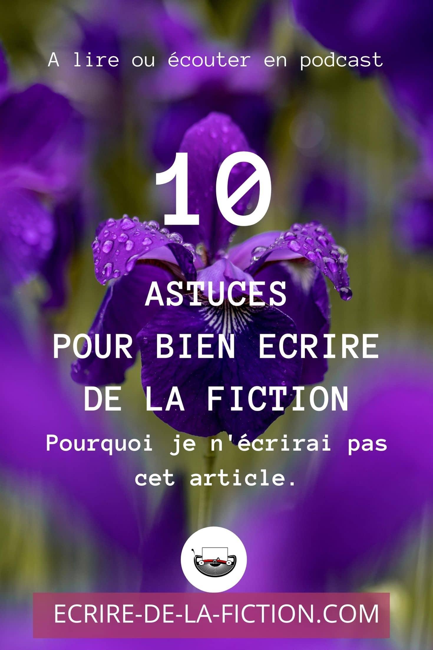 epingle pinterest fleurs mauves 10 astuces pour ecrire fiction