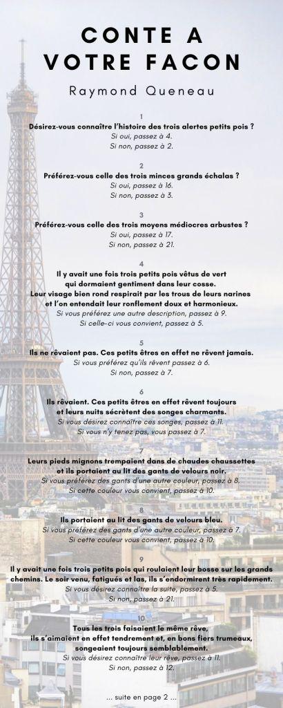 Conte à votre façon - Raymond Queneau