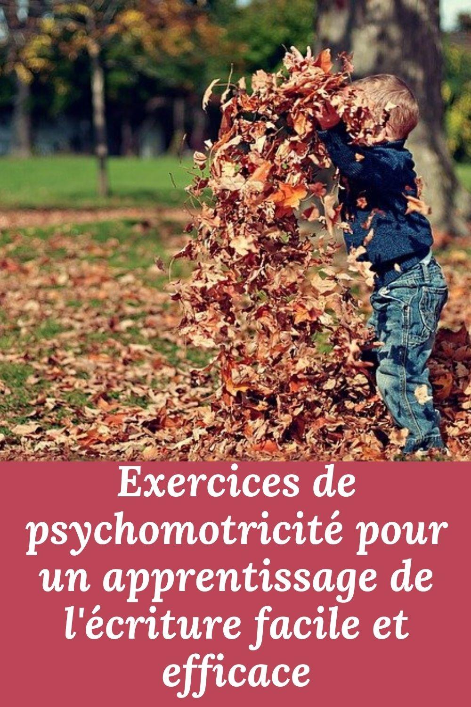 exercices de psychomotricité pour l'écriture