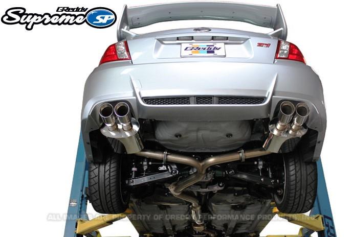 greddy supreme sp catback exhaust subaru sti sedan 2011 2014
