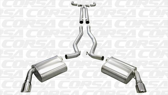 Corsa Manual Polished Sport Cat-Back + XO Exhaust
