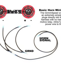 grimmspeed hella horn wiring harness subaru wrx sti legacy outback forester [ 1280 x 854 Pixel ]