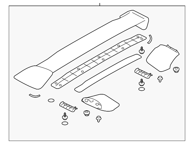 Subaru OEM STI Rear Spoiler Assembly Subaru STI 2015-2017