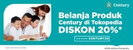 Belanja Produk Century di Tokopedia, Diskon 20%