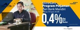 Tokopedia dan Bank Mandiri Sediakan Pinjaman Bunga Ringan
