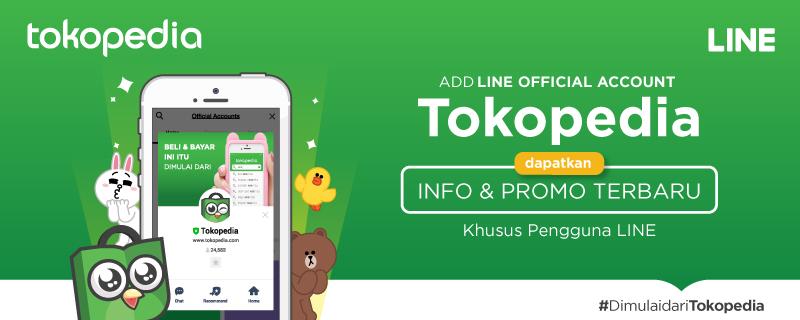 Official Account Tokopedia Kini Hadir di LINE