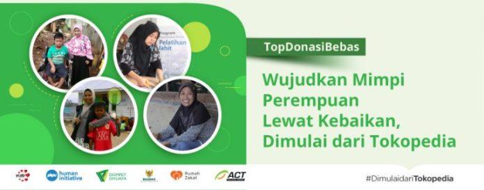 donasi online tokopedia