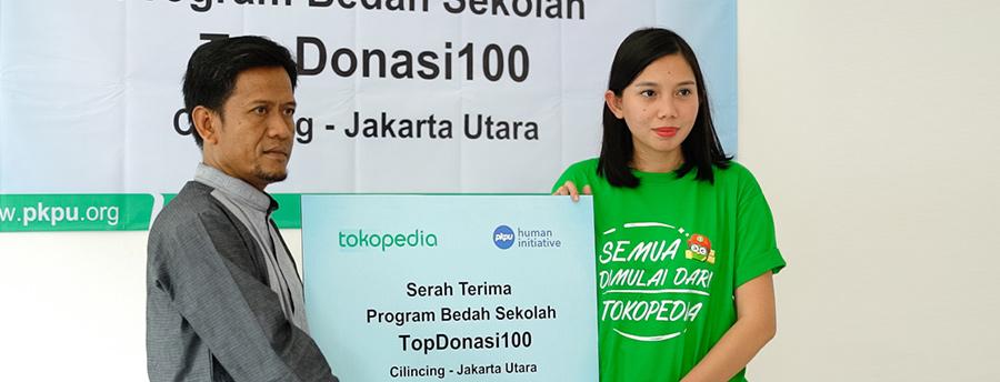Pengguna Tokopedia Berhasil Kumpulkan Rp 100 untuk Renovasi Sekolah