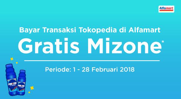 Bayar Transaksi Tokopedia di Alfamart, GRATIS Mizone!