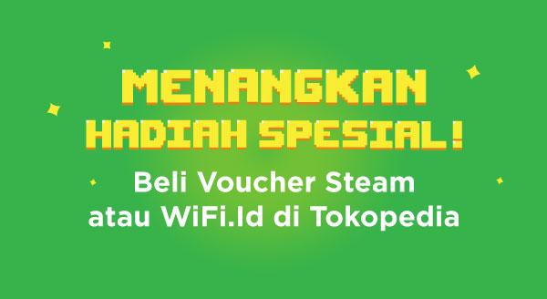 Beli Voucher Game Steam atau Streaming Wifi.id, Menangkan Undiannya!
