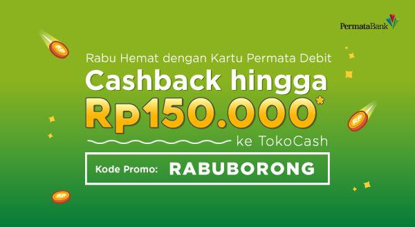 Setiap hari Rabu, dapatkan cashback hingga Rp150.000 khusus untuk pengguna Kartu Debit Permata.