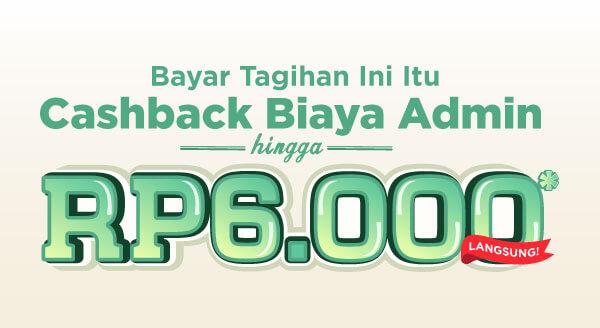 Ayo bayar berbagai tagihan bulananmu bersama Tokopedia dan dapatkan cashback biaya admin hingga Rp6.000 ke TokoCash!