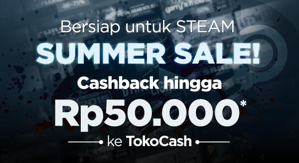 Raih cashback hingga Rp50.000 khusus pembelian voucher game di Tokopedia