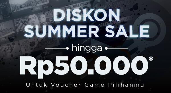 Diskon langsung hingga Rp50.000 khusus pembelian voucher game
