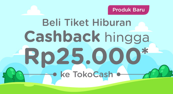 Dapatkan cashback TokoCash hingga Rp25.000 tiap Beli tiket Legoland Malaysia dan lain-lain!