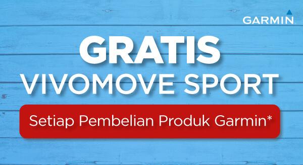 Beli Produk Garmin, Gratis Vivomove Sport