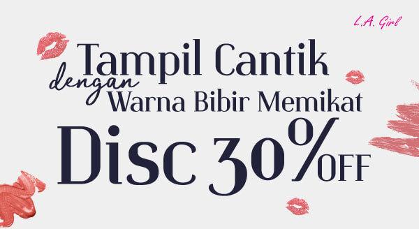 Diskon 30% untuk Semua Produk Lipstik L.A Girl