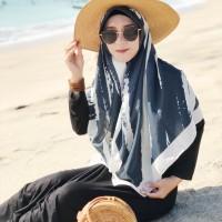 voal printed scarf 120x120cm jilbab segiempat voal cotton syari