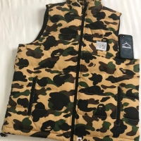 BAPE 1st CAMO DOWN VEST YELLOW AUTHENTIC ORIGINAL ASLI ROMPI
