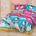 bed cover kitty plane untuk anak