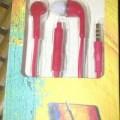 headset untuk samsung galaxy note 3,  s4 dan s5 warna merah