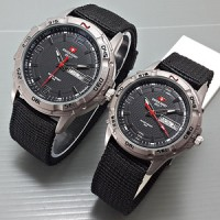 Swiss Army Couple Canvas DHC Black