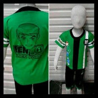 KOSTUM BEN 10 ALIEN FORCE + JAM TANGAN MAINAN