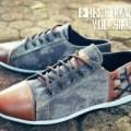 Sepatu Casual Circle 010 / Sneaker / Bahan Denim