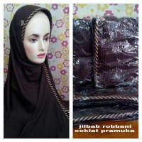 jilbab robbani warna coklat pramuka