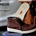Sepatu tracking touring outdoor Boot premium pria hummer cream