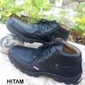 Sepatu Boot Kerja Pria Casual JUGER Kulit Asli Hitam Murah