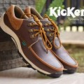 Sepatu Kickers Casual Pria Kickers Slipon Zapato Slank Brown Leather