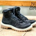Sepatu Boots Pria Nike Boots Skinny Leather Black Safety