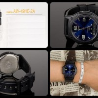Jam Tangan CASIO AW 49HE 2A / AW-49HE-2A Analog Digital Original