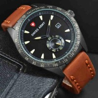Jam Tangan Murah Swiss Army Super Leather Chrono Type 3