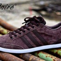 sepatu casual kets adidas neo cafflaire dark/brown prem Limited