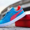 sepatu casual sport women puma suede blue red
