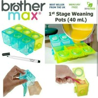 BROTHER MAX WEANING POT KECIL 40ml - baby cubes blocks freezer storage
