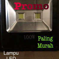 Lampu LED sorot 100w COB 2mata outdoor indoor panggung WARM WHITE