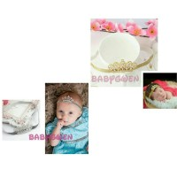 Harga Bando Tiara Gold Untuk Bayi Dan Anak Perempuan Headband