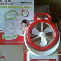 Kipas Angin+Senter Charger AOKI AK-555 Multifungsi