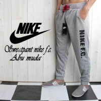 Celana Jogger Nike Grey / Training Abu / SweatPants Pendek / 3/4 Nike